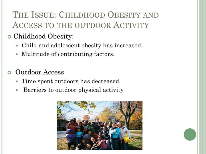 factors contributing to childhood obesity and This course defines childhood obesity, discusses how it is measured, and identifies contributing risk factors it also provides five recommendations for managing childhood obesity.