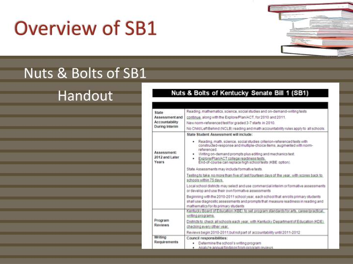 Overview of SB1