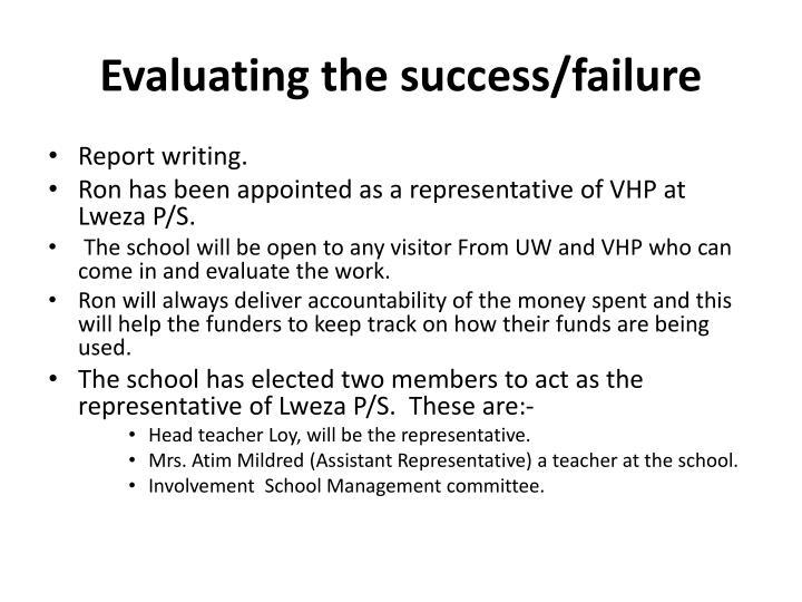 Evaluating the success/failure