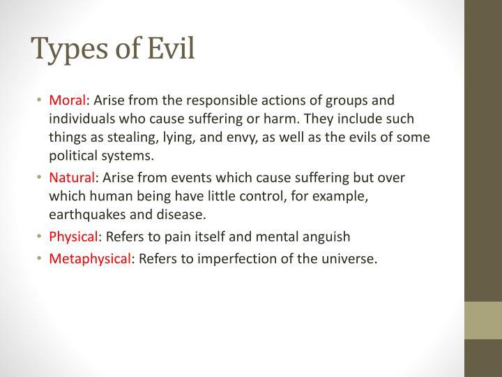 Types of Evil