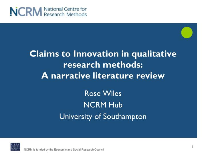 methods of literature review in research ppt That a literature review can be used to promote the opinions of the reviewer, in that only research that supports a particular view point is included, rather than representing an accurate and balanced summary of all the research on the topic to address this problem there has been a.