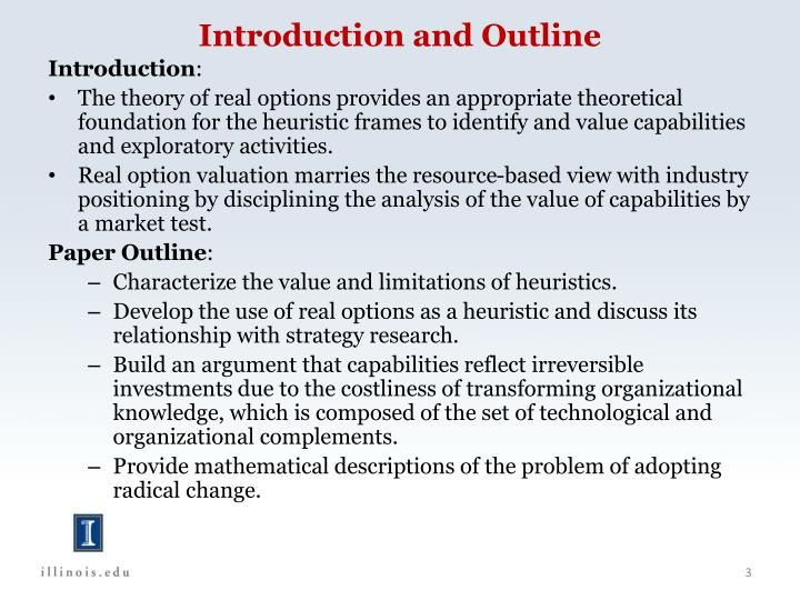 Introduction and outline