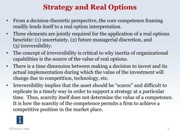 Strategy and Real Options