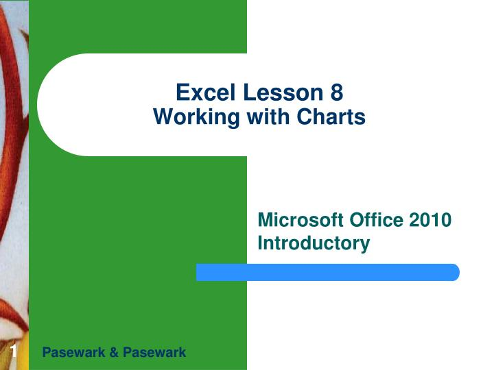 excel lesson 8 working with charts n.