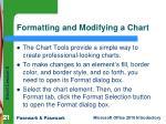 formatting and modifying a chart