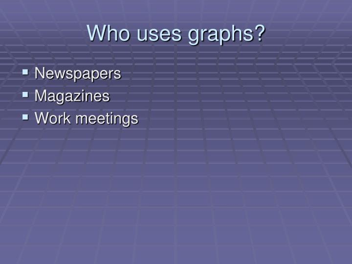Who uses graphs?