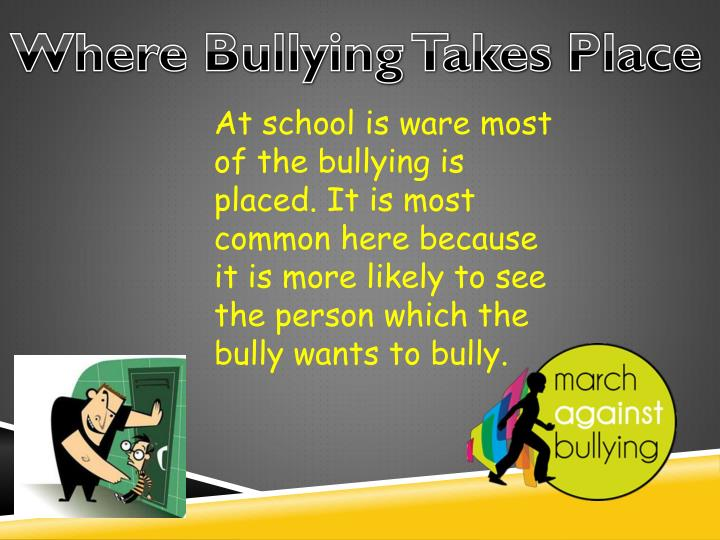 Where Bullying Takes