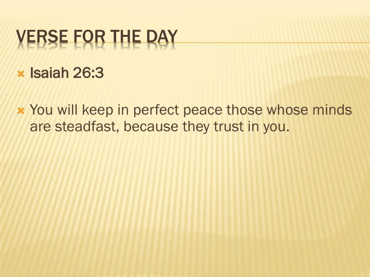 Verse for the day