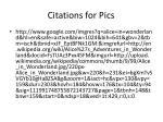 citations for pics