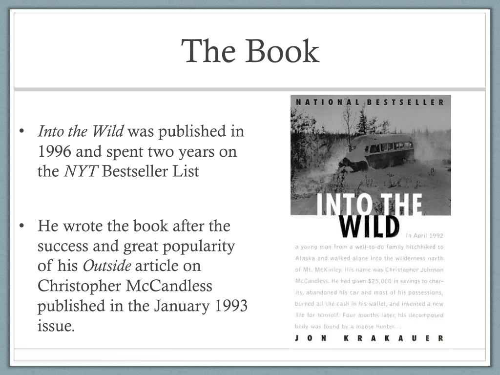《Into the wild》Section ⅠPPT课件 - 第一PPT |Into The Wild Powerpoint