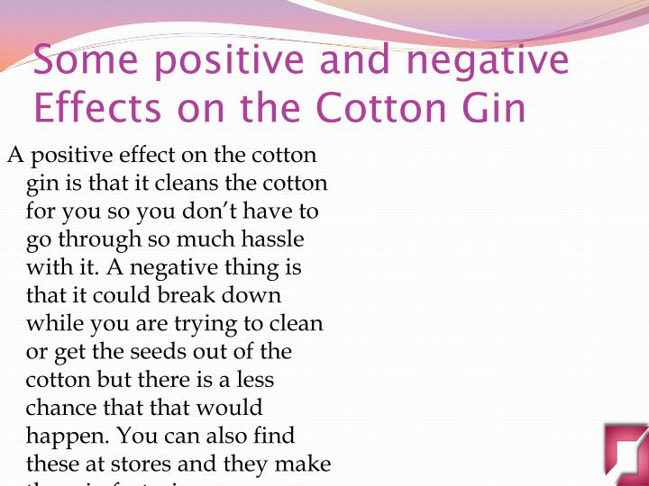 negative effects of the cotton gin