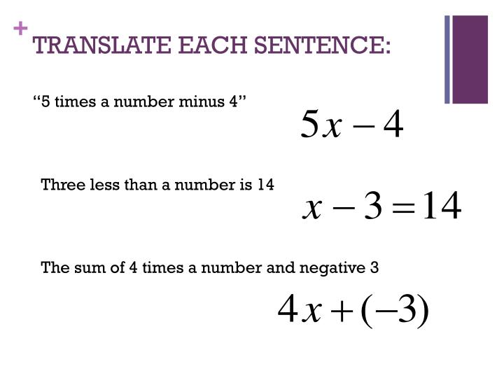 Translate each sentence