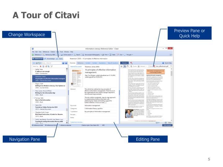 A Tour of Citavi