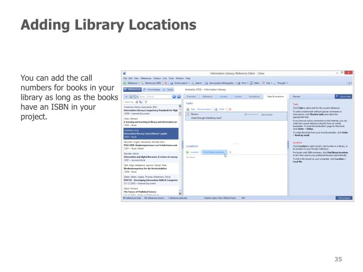 Adding Library Locations