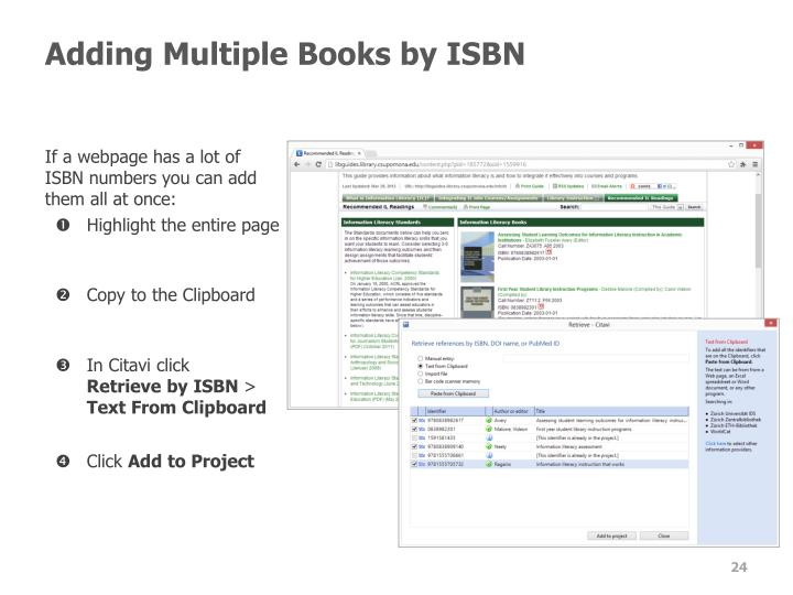 Adding Multiple Books by ISBN