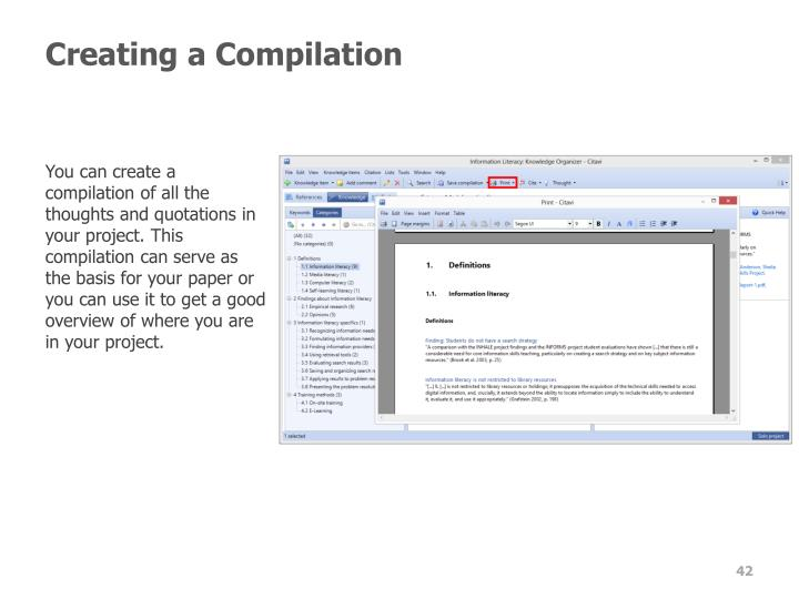 Creating a Compilation