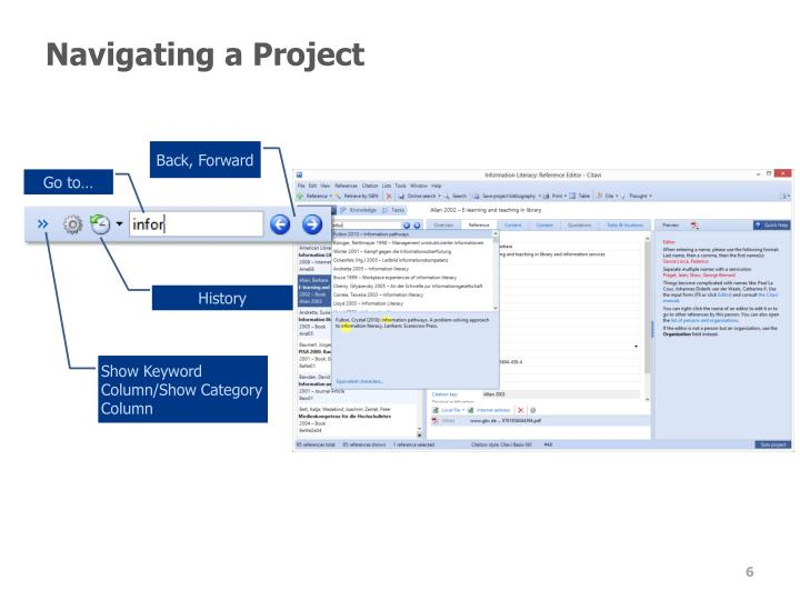 Navigating a Project