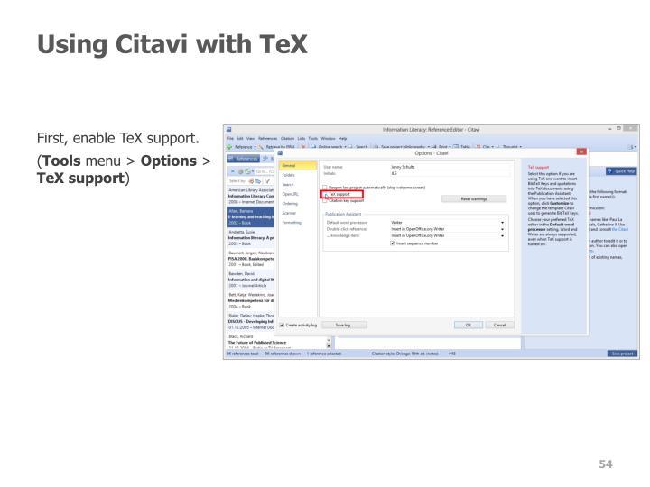 Using Citavi with TeX