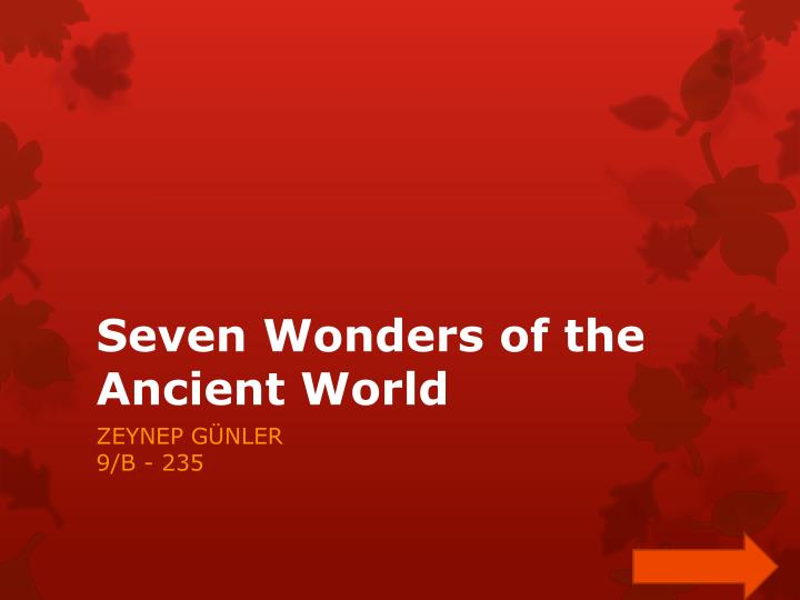seven wonders of the ancient world n.
