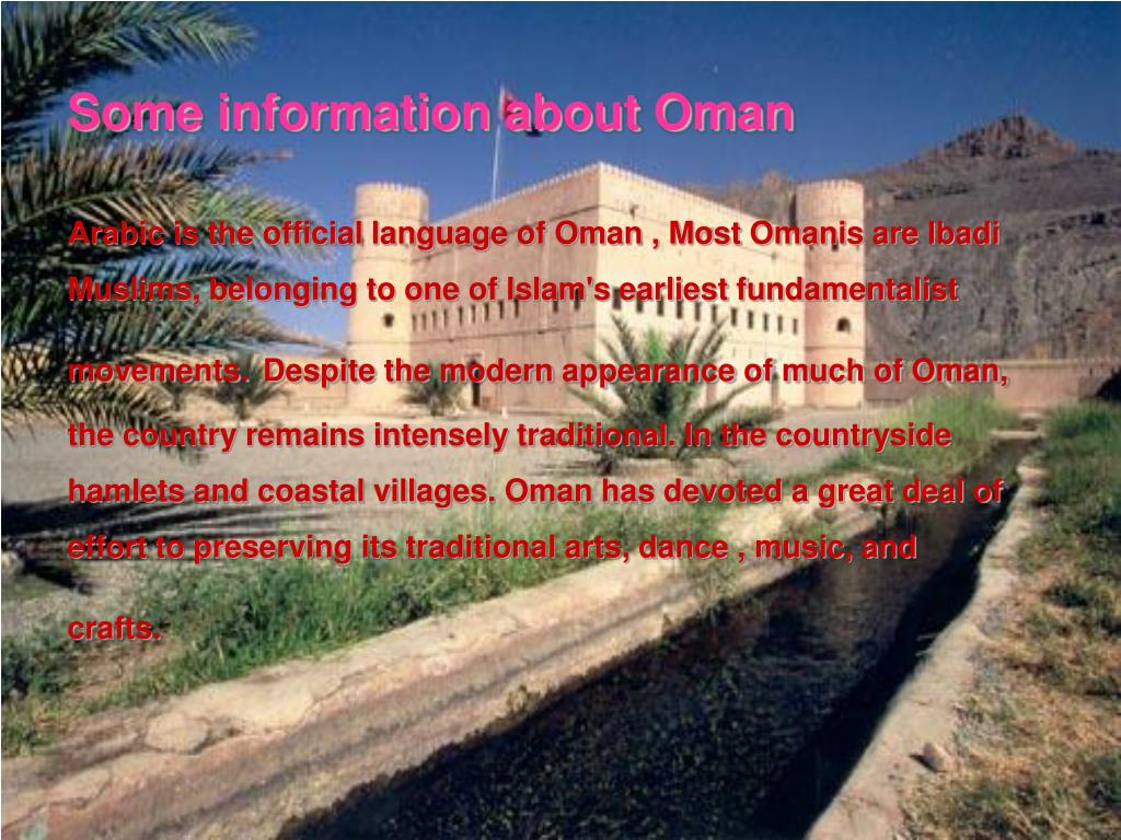 PPT - Culture of Oman PowerPoint Presentation - ID:2621105