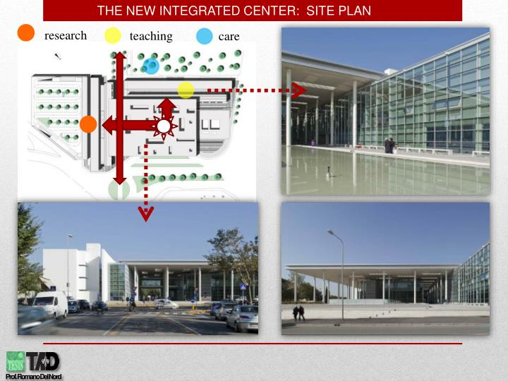 THE NEW INTEGRATED CENTER:  SITE PLAN