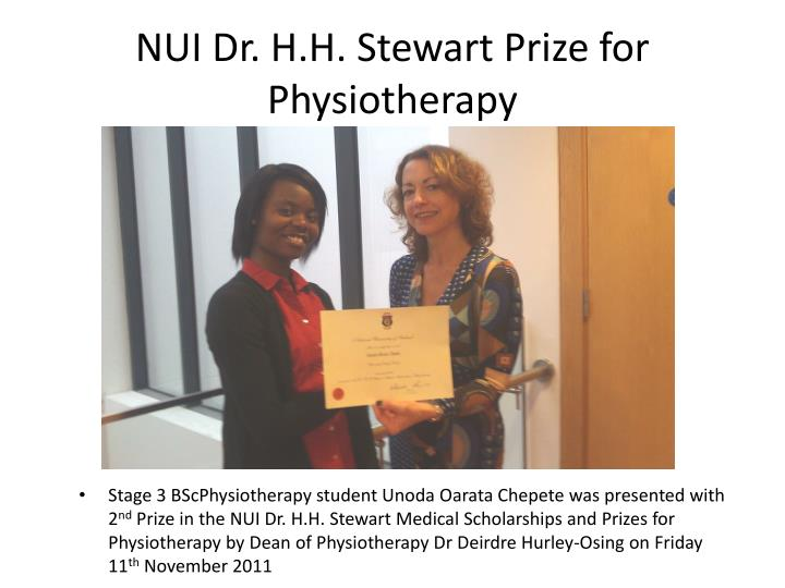 nui dr h h stewart prize for physiotherapy