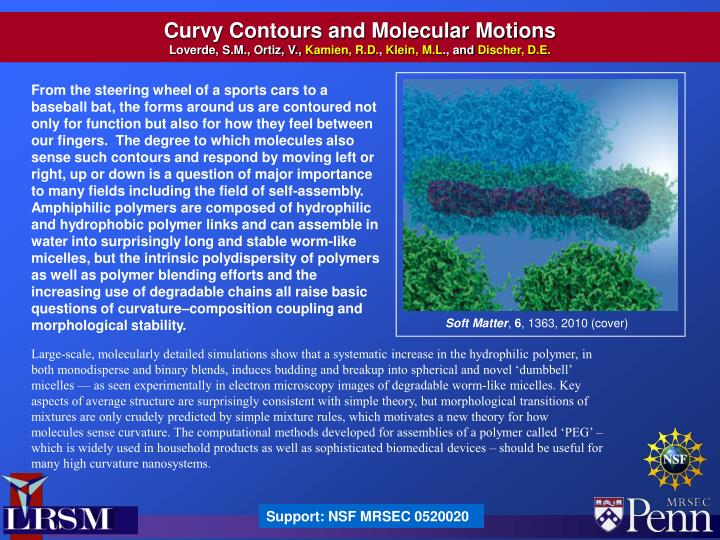 Curvy Contours and Molecular Motions