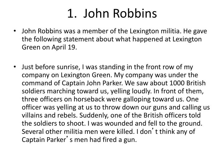 1.  John Robbins