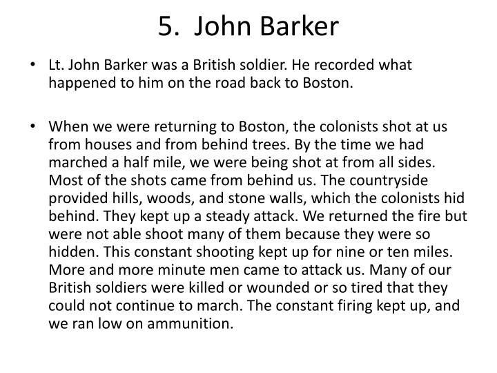 5.  John Barker