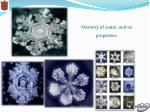 memory of water and its properties