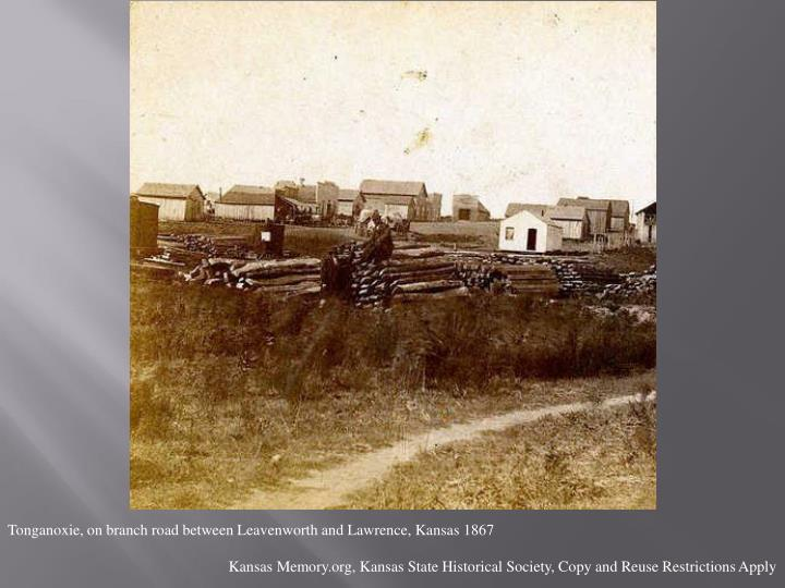 Tonganoxie, on branch road between Leavenworth and Lawrence, Kansas 1867