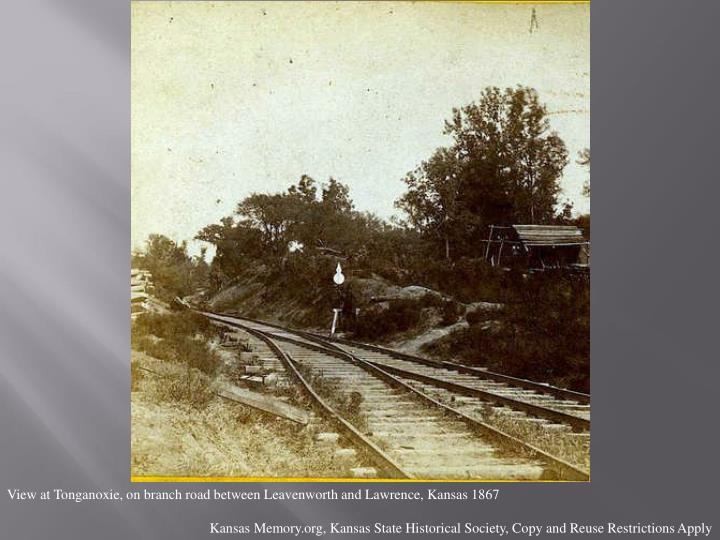 View at Tonganoxie, on branch road between Leavenworth and Lawrence, Kansas 1867