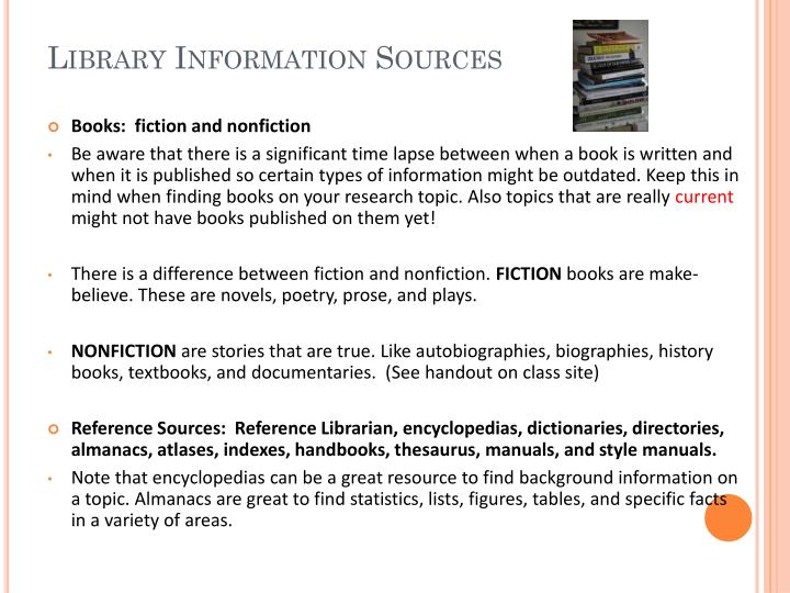 Library Information Sources