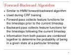 forward backward algorithm