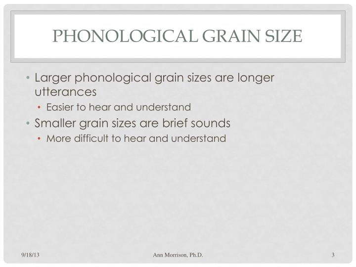 Phonological grain size