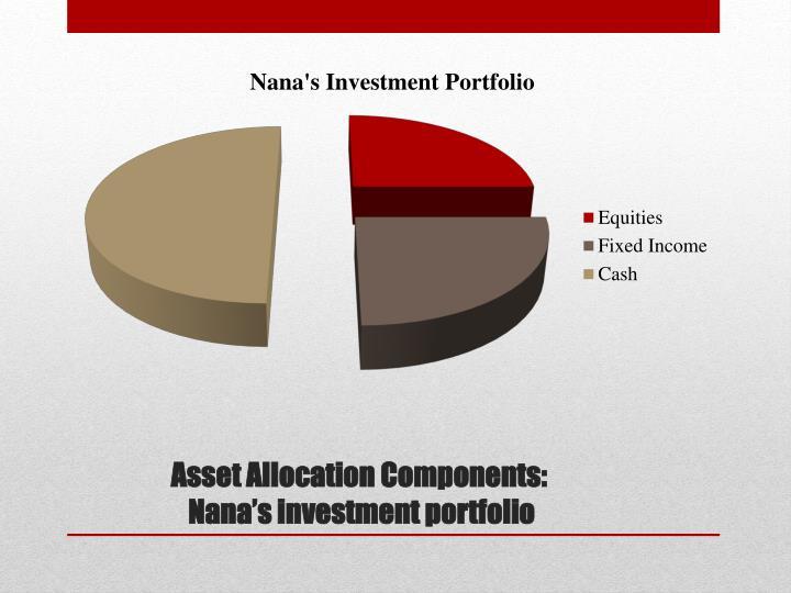 Asset allocation components nana s investment portfolio
