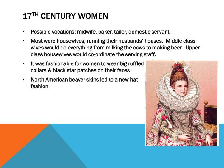 17 th century women