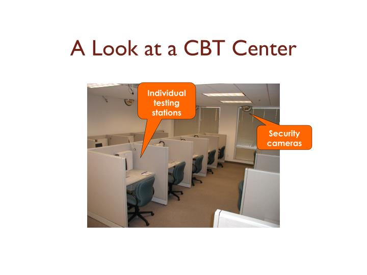 A Look at a CBT Center