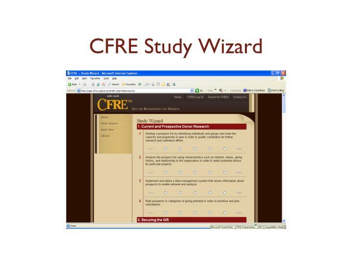 CFRE Study Wizard