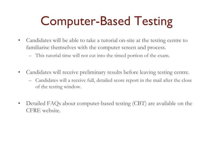 Computer-Based Testing