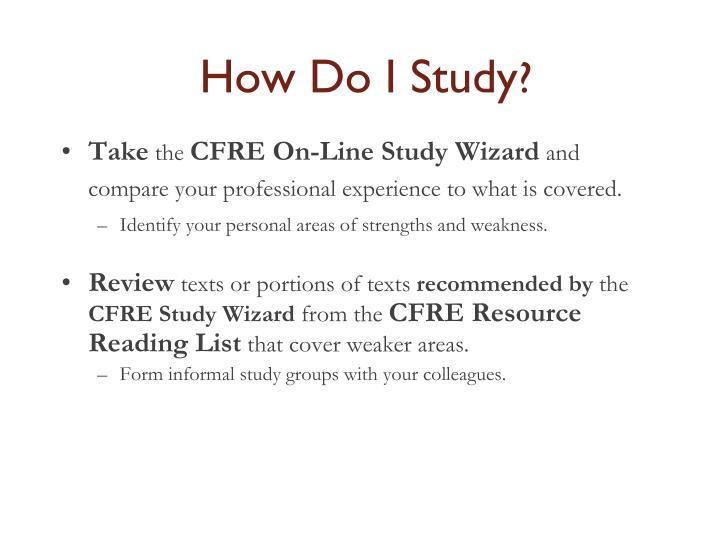 How Do I Study