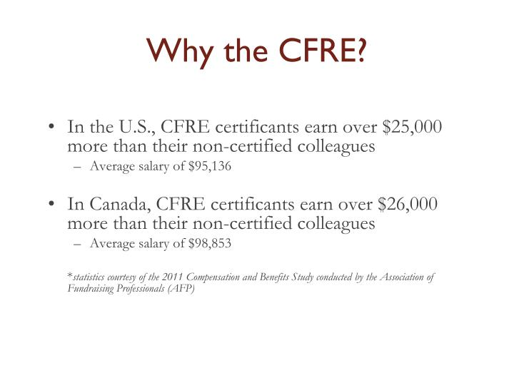 Why the CFRE?