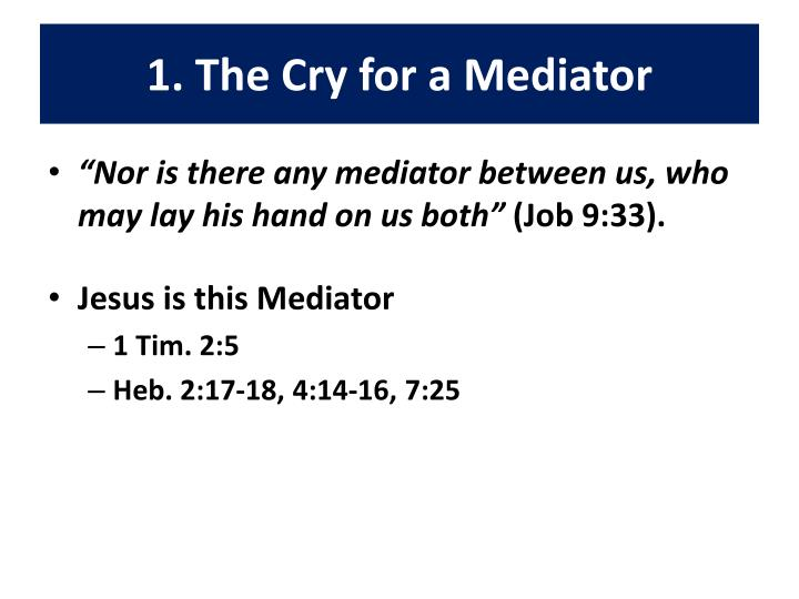 1 the cry for a mediator
