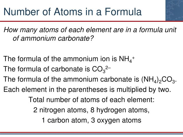 Ppt Chapter 7 Chemical Formula Relationships Powerpoint