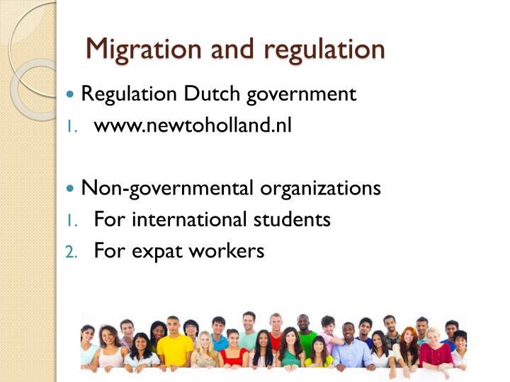 Migration and regulation