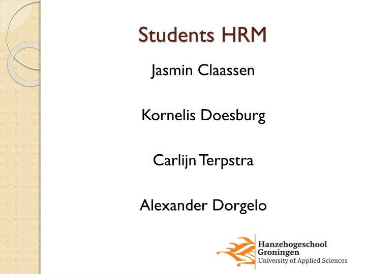 Students hrm