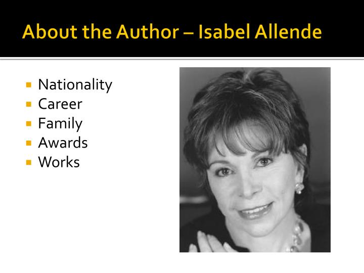 About the author isabel allende