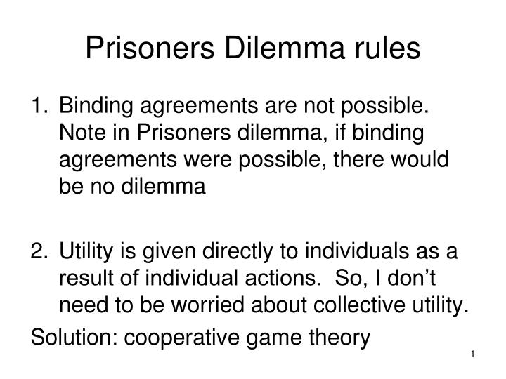 the intriguing problem of prisoners dilemma Recognition of this problem is older than fifty two superb articles on the prisoners' dilemma anthologized in his an interesting observation: your.
