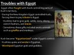 troubles with egypt
