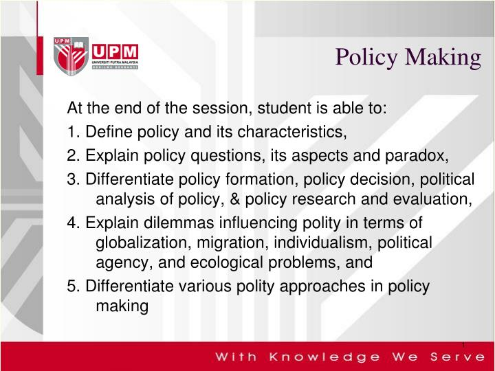 policy making n.